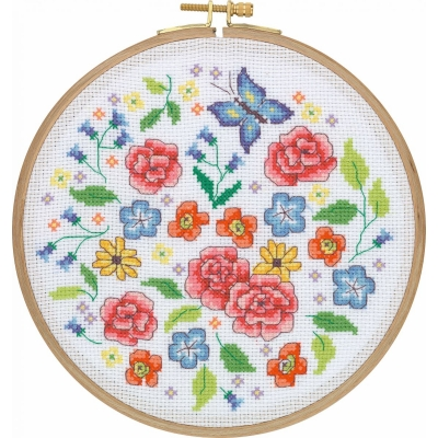 Tuva Cross Stitch Kit With Wooden Hoop CCS11