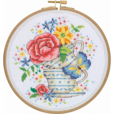 Tuva Cross Stitch Kit With Wooden Hoop CCS12