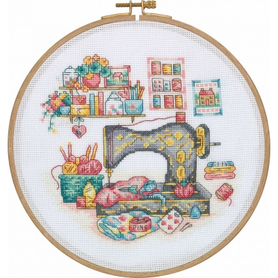 Tuva Cross Stitch Kit With Wooden Hoop DCS01