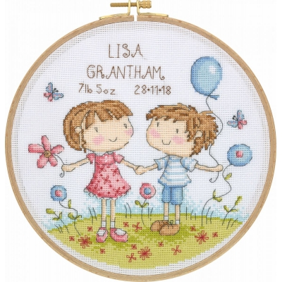 Tuva Cross Stitch Kit With Wooden Hoop DCS02