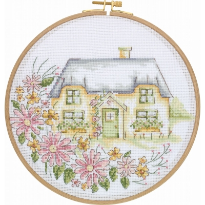 Tuva Cross Stitch Kit With Wooden Hoop DCS03