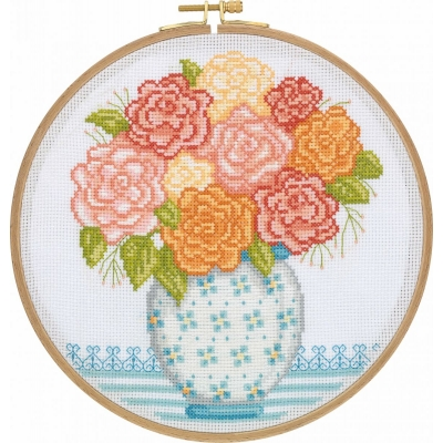Tuva Cross Stitch Kit With Wooden Hoop DCS04