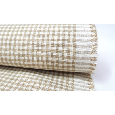 Cotton Square Duck Fabric, Beige Color
