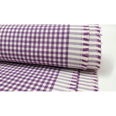 Cotton Square Duck Fabric, Purple Color