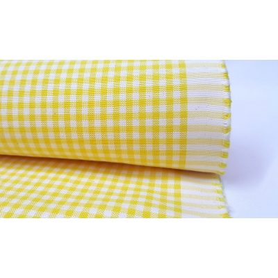 Cotton Square Duck Fabric, Yellow Color