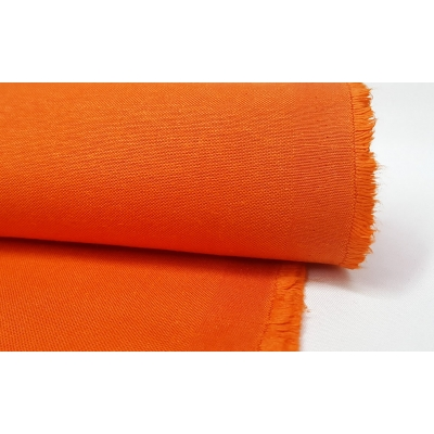 Cotton Duck Fabric Orange Color