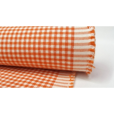 Cotton Square Duck Fabric, Orange Color