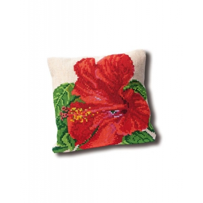 THEA GOUVERNEUR TAPESTRY CUSHION 023.4005 (HIBISCUS)
