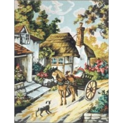 45x60 cm GOBELİN & DIAMANT BASKILI GOBLEN 14795