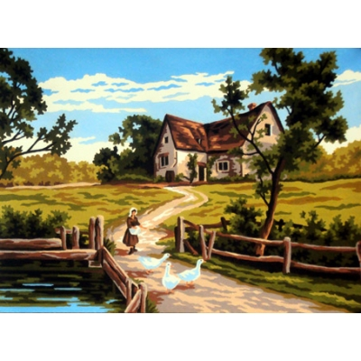 40x50 cm GOBELİN & DIAMANT PRINTED CANVAS 40143