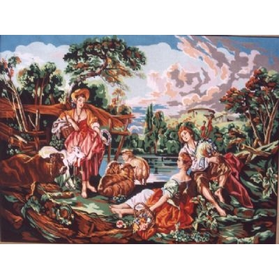 90x130 cm GOBELİN & DIAMANT PRINTED CANVAS 12463