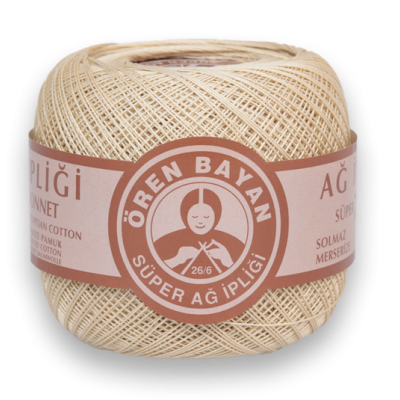 OREN BAYAN SUPER LACE YARN 26/6 CREAM-WHITE