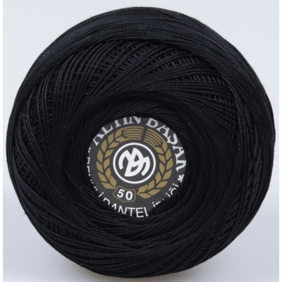 ALTINBASAK COLORFUL LACE YARN NO:50 26-BLACK (20 gr)