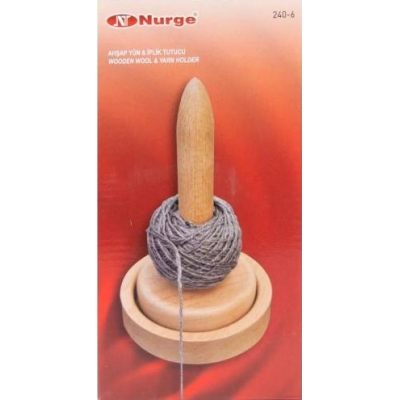 Nurge Wooden Wool and Yarn Holder 240-6