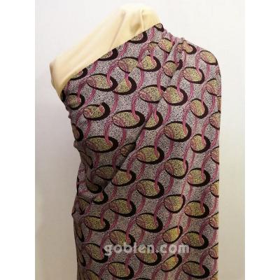 Dress Fabric, Viscose Belmando Print 4618 Purple 145cm Width