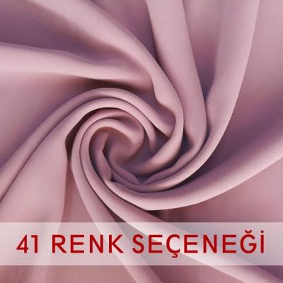 Krep Kumaş, 41 Renk Seçeneği, 150cm En