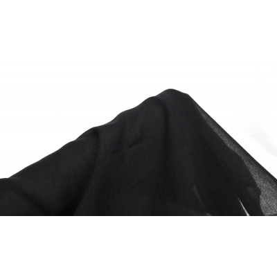 Tülbent Kumaş - % 100 Pamuk-Siyah