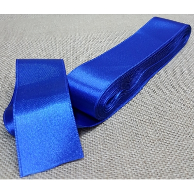 Satin Ribbon No:12, 4cm Sax Blue