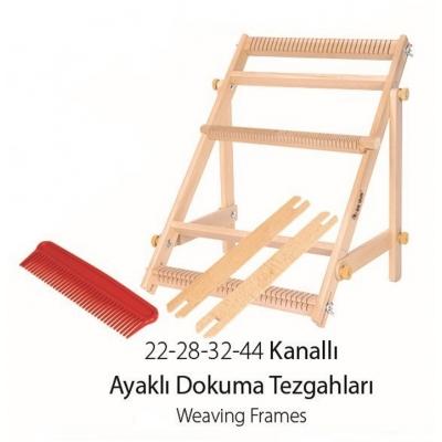 Ayaklı Eğitim Dokuma Tezgahı, 44 Kanallı, 40x48cm