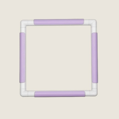 Embroidery Hoop With Clips Plus (28 cm x 28 cm) Purple