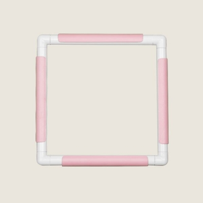 Embroidery Hoop With Clips Plus (35.5 cm x 35.5 cm) Pink