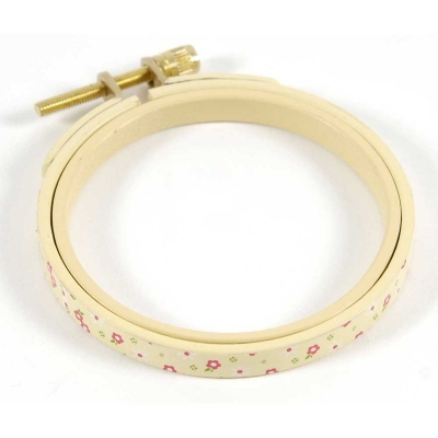 DMC Painted Round Embroidery Hoop,12.5 cm Diameter,Yellow