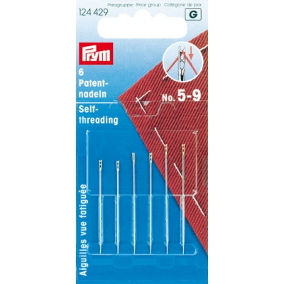 PRYM SELF-THREADING NEEDLES 124429