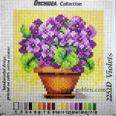 15x15 cm ORCHIDEA PRINTED CANVAS 2252D