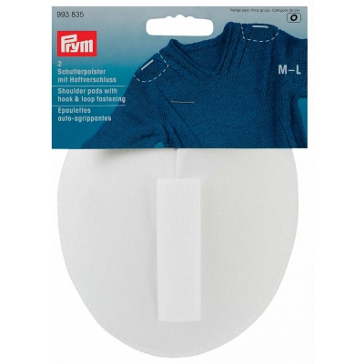 PRYM SHOULDER PADS WITH HOOK&LOOP; FASTENING 993835