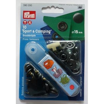 PRYM 15mm Black Press Fasteners 390200
