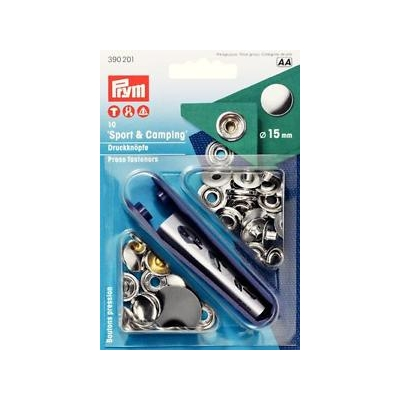 PRYM 15mm Gümüş ÇITÇIT 390201