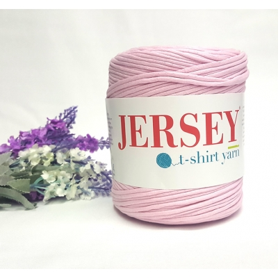 Jersey T-Shirt Thread Open Baby Pink