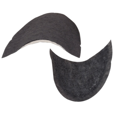 Black Fiber Shoulder Pads