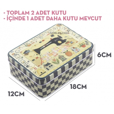 metallic sewing box - 1