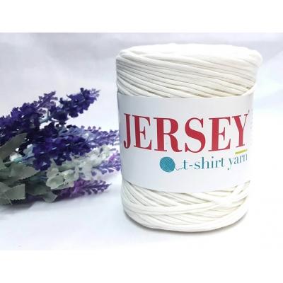 Jersey T-Shirt Yarn Penye İplik Kırık Beyaz