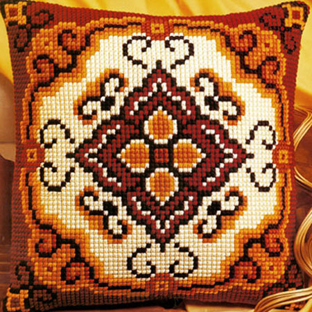 Вышивка крестом наволочки для подушки 31